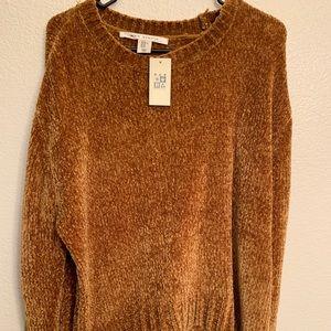 Velvet golden sweater